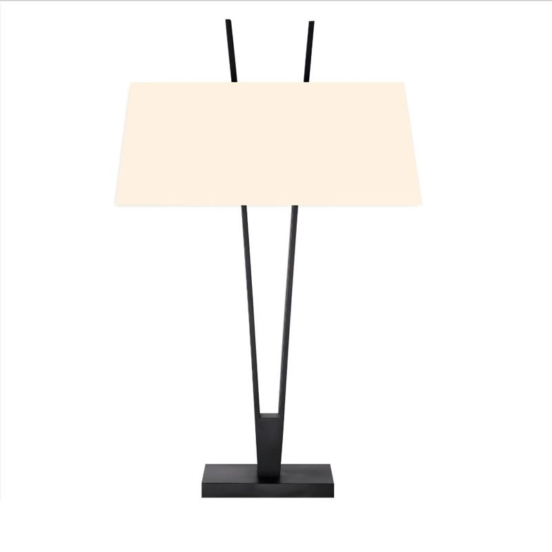 Sonneman 4670 V-Lamp 2 Light Table Lamp with Linen Shade Satin Black Sale $500.00 ITEM: bci2655523 ID#:4670.25 UPC: 872681062499 :