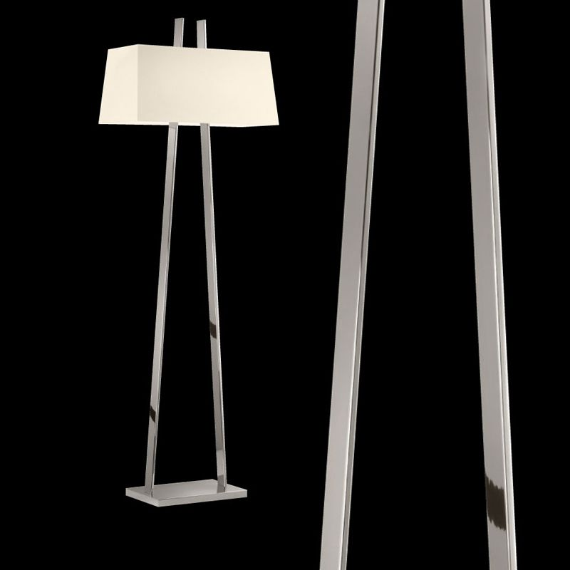Sonneman 4682 A-Lamp 2 Light Floor Lamp with Linen Shade Polished Sale $970.00 ITEM: bci2655514 ID#:4682.35 UPC: 872681062567 :