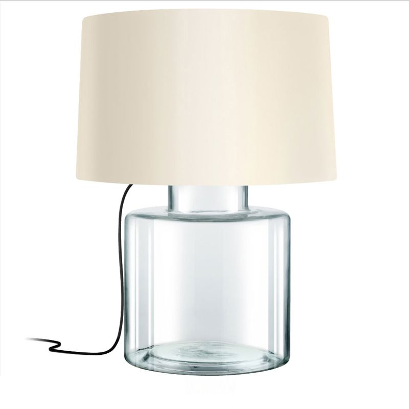Sonneman 4770 Grasso 1 Light Table Lamp with Linen Shade Clear Glass Sale $590.00 ITEM: bci2655519 ID#:4770.87K UPC: 872681063649 :