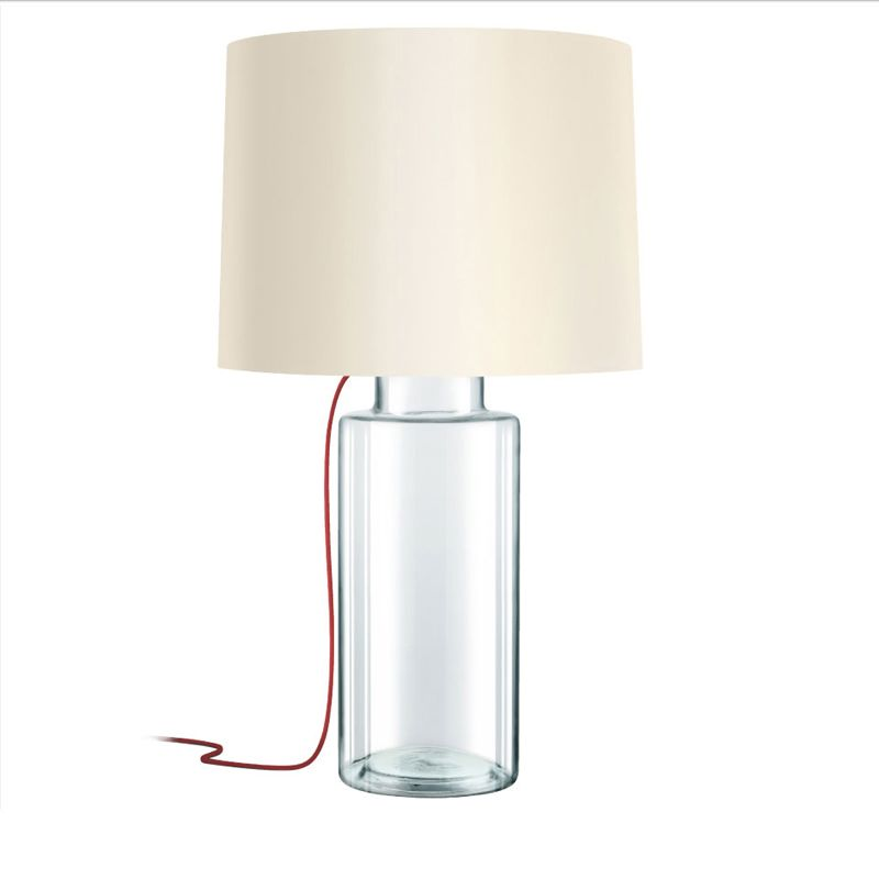 Sonneman 4775 Vaso 1 Light Table Lamp with Linen Shade Clear Glass Sale $490.00 ITEM: bci2655522 ID#:4775.87R UPC: 872681063670 :