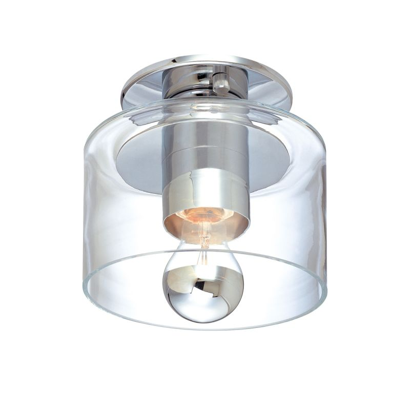 Sonneman 4800 Transparence 1 Light Flushmount Ceiling Fixture with