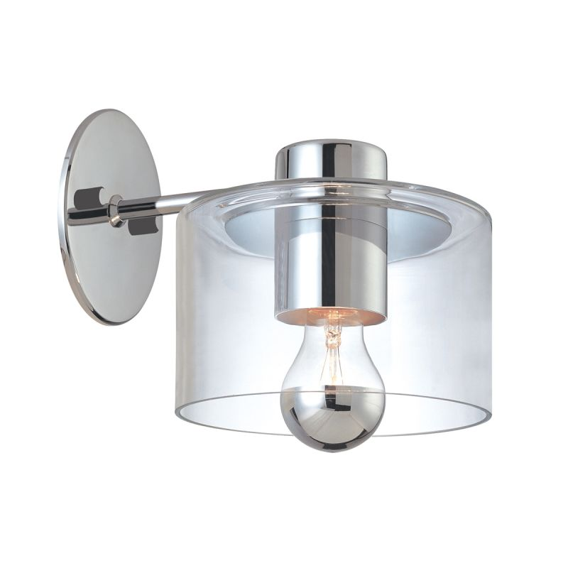 Sonneman 4801 Transparence 1 Light Wall Sconce with Mercury Glass