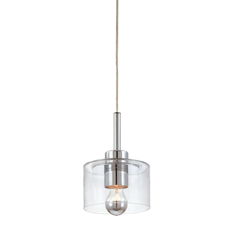 Sonneman 4802 Transparence 1 Light Pendant with Clear Shade Polished