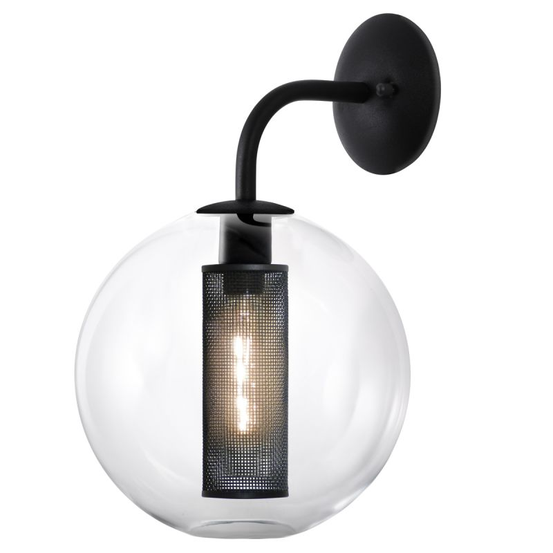 Sonneman 4931.97 Textured Black Contemporary Tribeca Wall Sconce