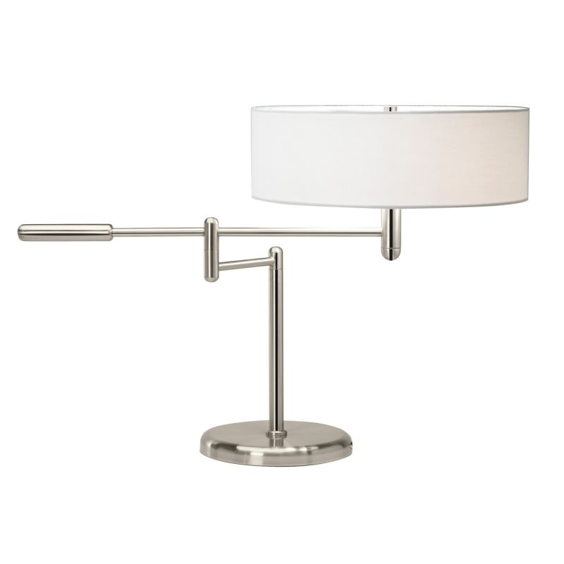 Sonneman 7000 Perno 2 Light Table Lamp with Cream Shade Polished