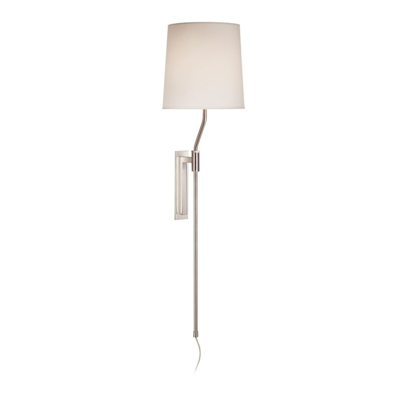 Sonneman 7009 Palo 1 Light Wall Sconce with White Linen Shade Polished