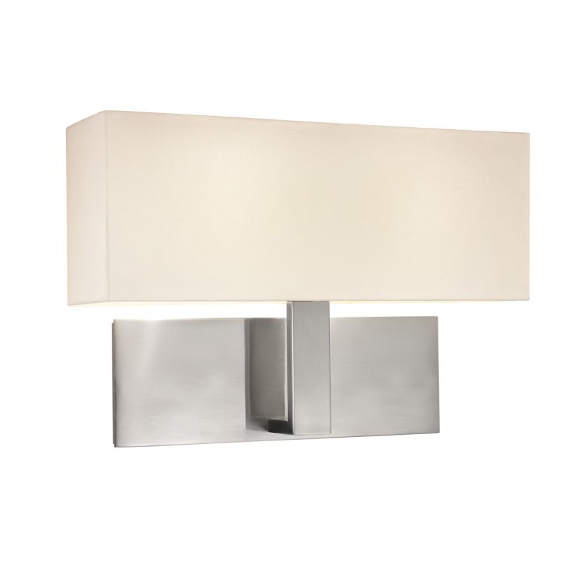 Sonneman 7025F Mitra 2 Light LED Wall Sconce with Cream Linen Shade