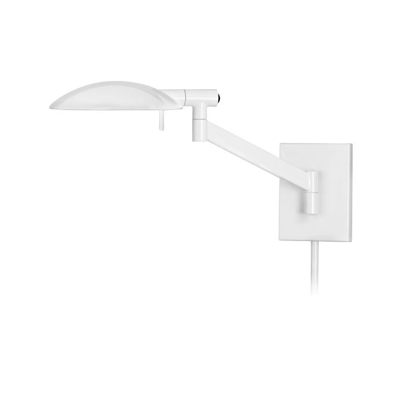 Sonneman 7085.6 Gloss White Contemporary Perch Wall Sconce