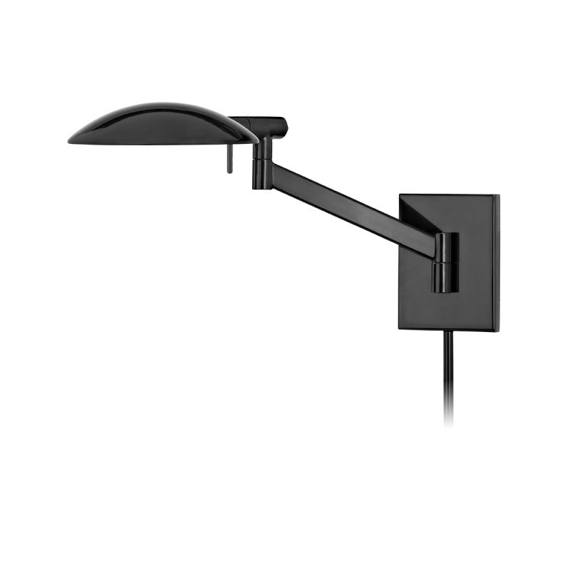 Sonneman 7085.62 Gloss Black Contemporary Perch Wall Sconce