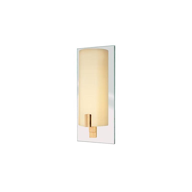 Sonneman 1931.13 Cylindre 1 Light Wall Sconce Satin Brass Indoor
