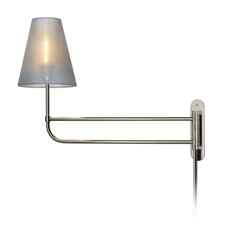 Sonneman 1961.35 Polished Nickel Contemporary Bistro Wall Sconce