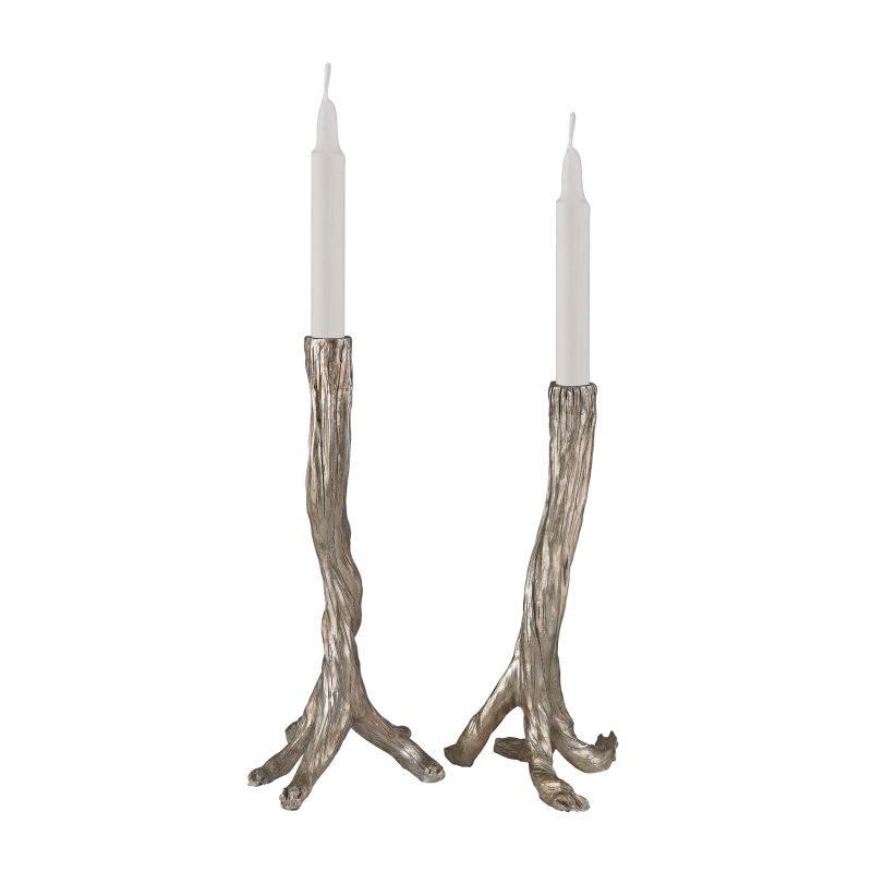 Sterling Industries 112-1141/S2 Silver Leafed Branch Candle Holder -