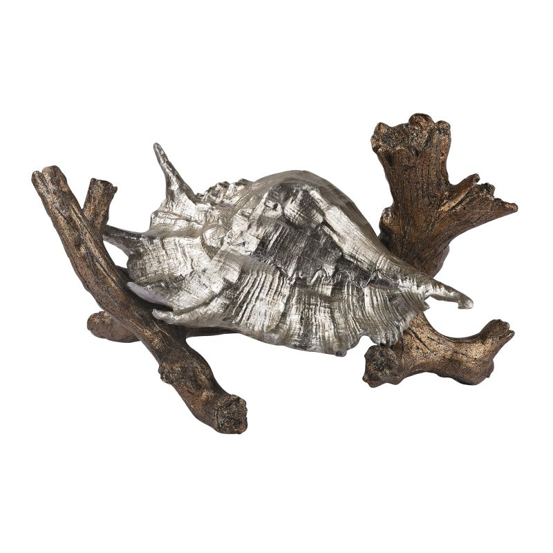 Sterling Industries 112-1151 Conch Shell on Branch Figurine Roxford