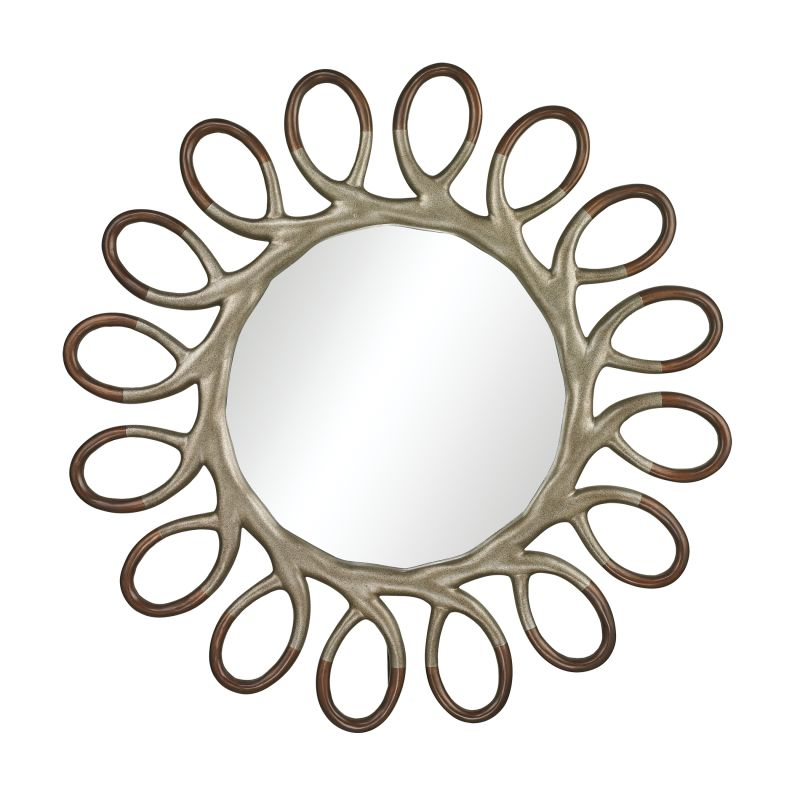 """Sterling Industries 114-19 Clement 46"""" Wall Mirror Warm Antique Silver"""
