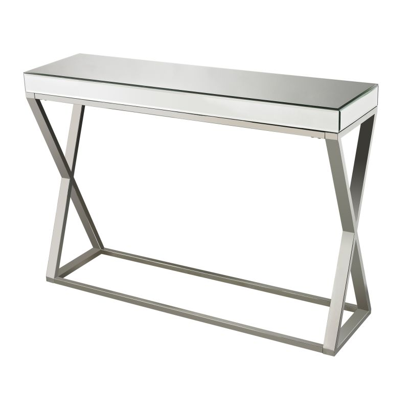 Sterling Industries 114-43 Klein Mirror And Stainless Console Table