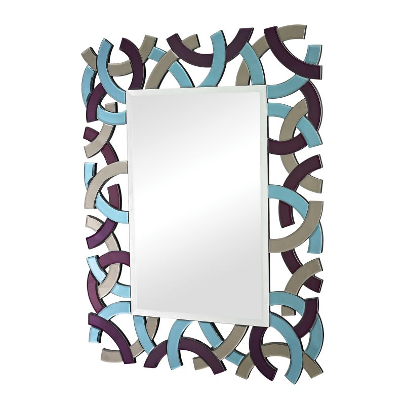 "Sterling Industries 114-68 44"" x 34"" Wall Mirror Purple Home Decor"