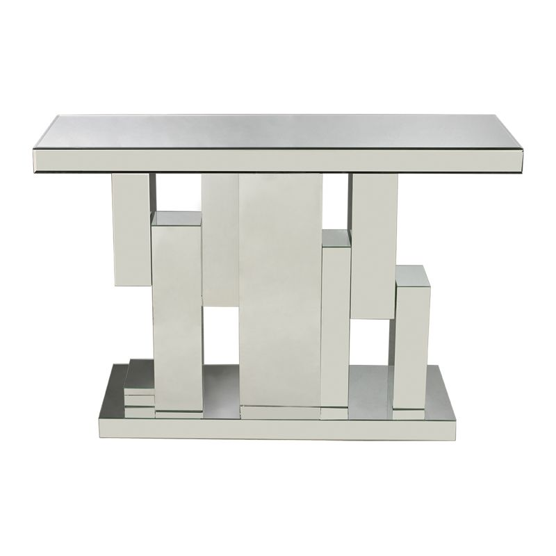 Sterling Industries 114-73 Tetrominoes Mirrored Console Clear