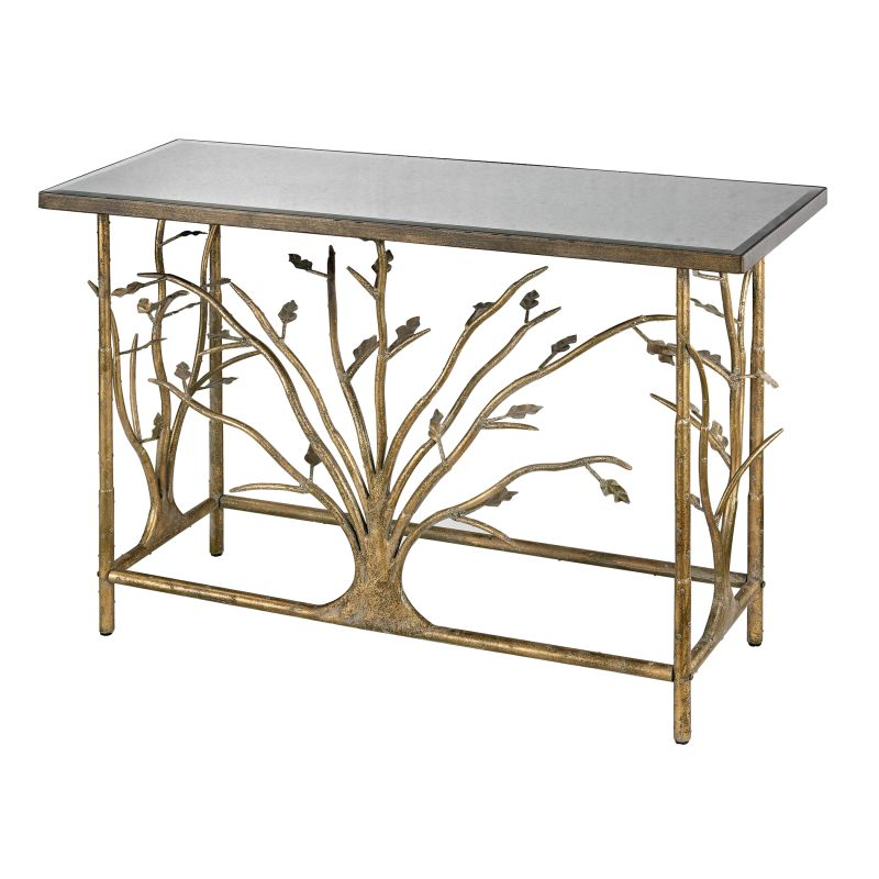 Sterling Industries 114-95 Gold Leafed Metal Branch Console Table with