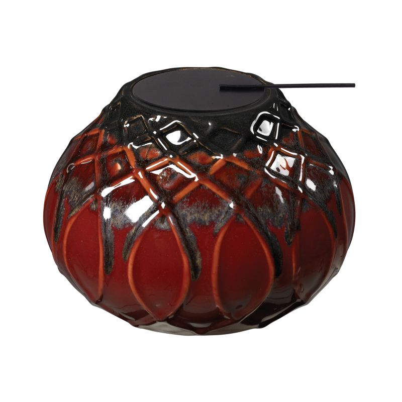 Sterling Industries 119-044 Ceramic Tea Light Mococca Red Glaze Home
