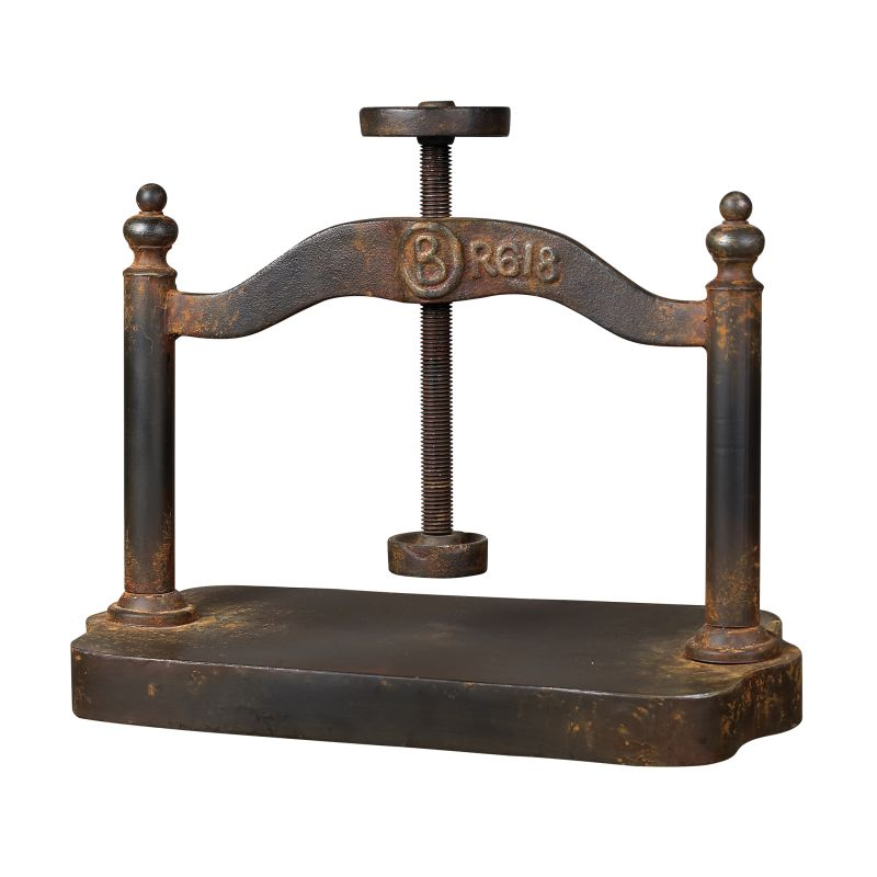 Sterling Industries 129-1009 Cast Iron Book Press Restoration Rusted