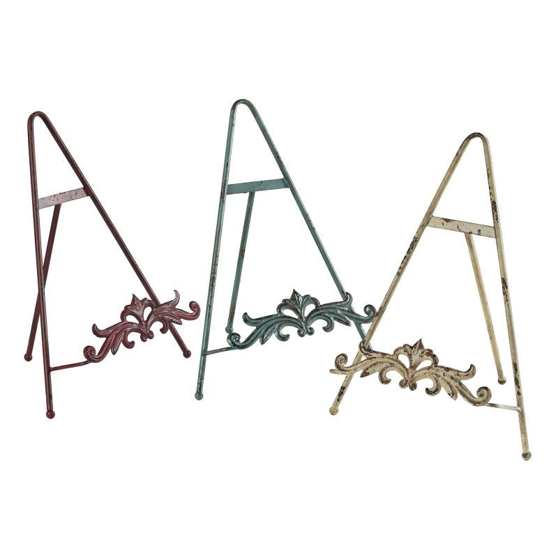Sterling Industries 129-1066 Set of 3 Iron Book Stands Rimrock Red