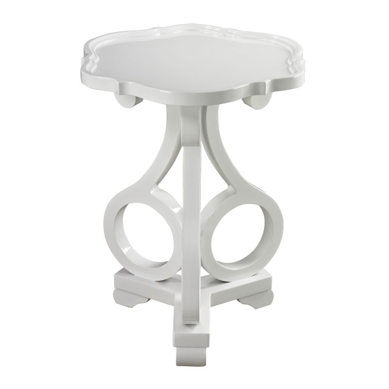 Sterling Industries 136-003 Knockeen Accent Table Gloss White