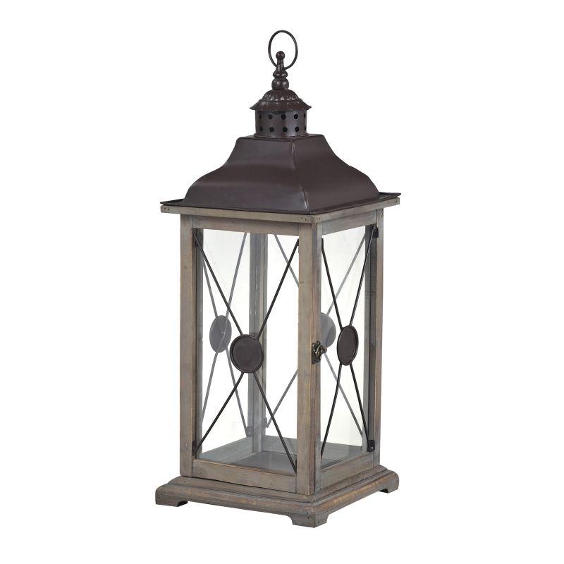 Sterling Industries 137-003 Edlington Large Wooden Lantern Natural