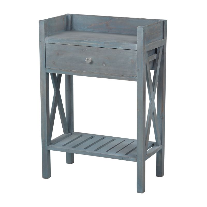 Sterling Industries 137-009 Biscayne Beachcomber Blue Side Table Heavy