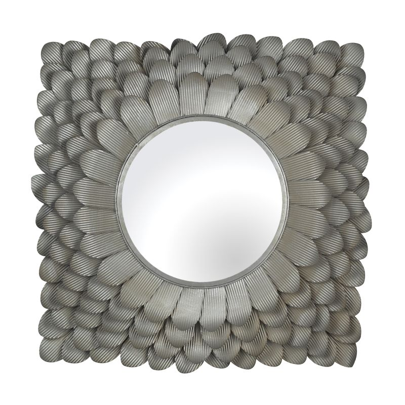 """Sterling Industries 137-027 Flosley 25"""" Wall Mirror Antique Silver"""