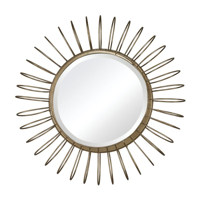 "Sterling Industries 138-001 Green Field 19"" Wall Mirror Gold Leaf Home"