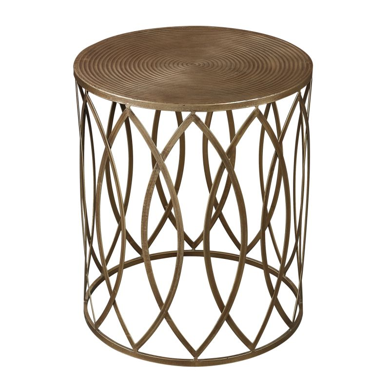 Sterling Industries 138-009 Sutton Accent Table in Gold Leaf Gold