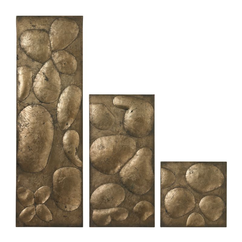 Sterling Industries 138-020/S3 Ramsey Wall Panels In Gold Leaf - Set