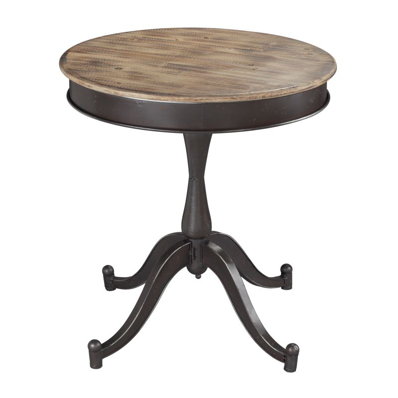 Sterling Industries 138-047 Halsall Industrial Side Table with Wood