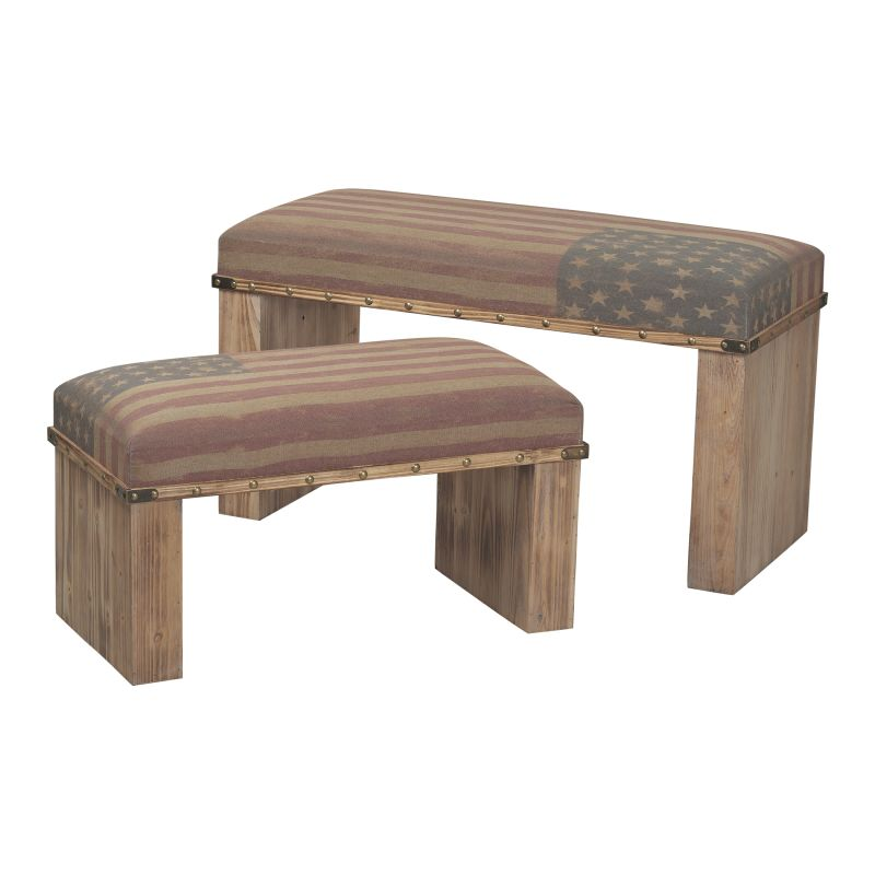 Sterling Industries 138-082/S2 National Wooden Bench - Set of Two