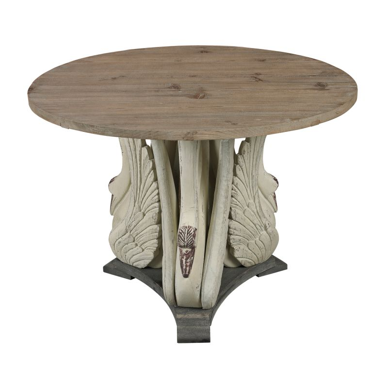 Sterling Industries 138-086 Baywood Swan Accent Table With Wooden Top