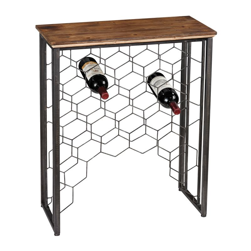 Sterling Industries 138-114 Small Console Table with Wine Rack Medium