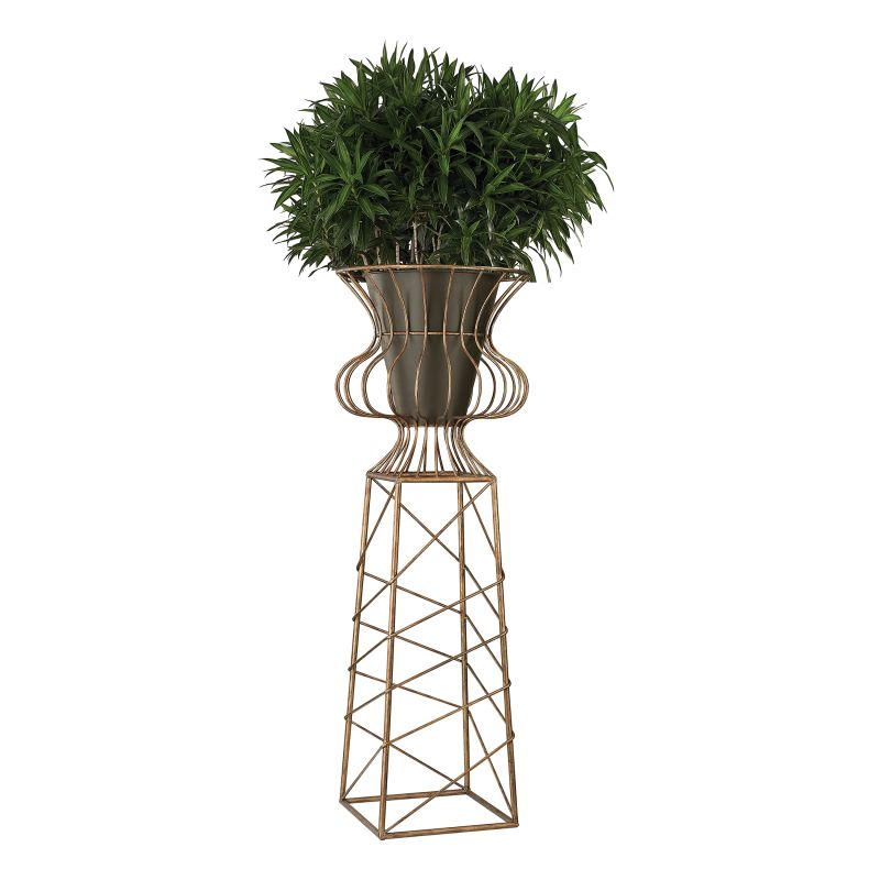 Sterling Industries 138-144 Oversized Planter in Gold Metal Gardenhill