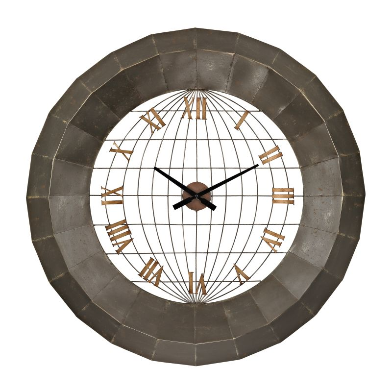 Sterling Industries 138-151 Oversized Metal Analog Wall Clock Garforth