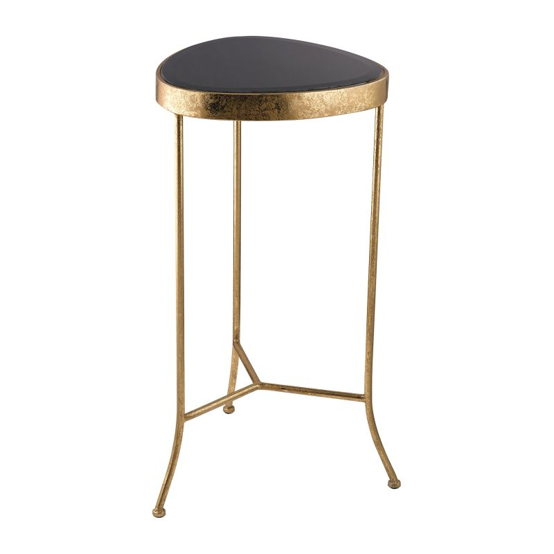 Sterling Industries 138-180 Black Onyx Cocktail Table Gold Furniture