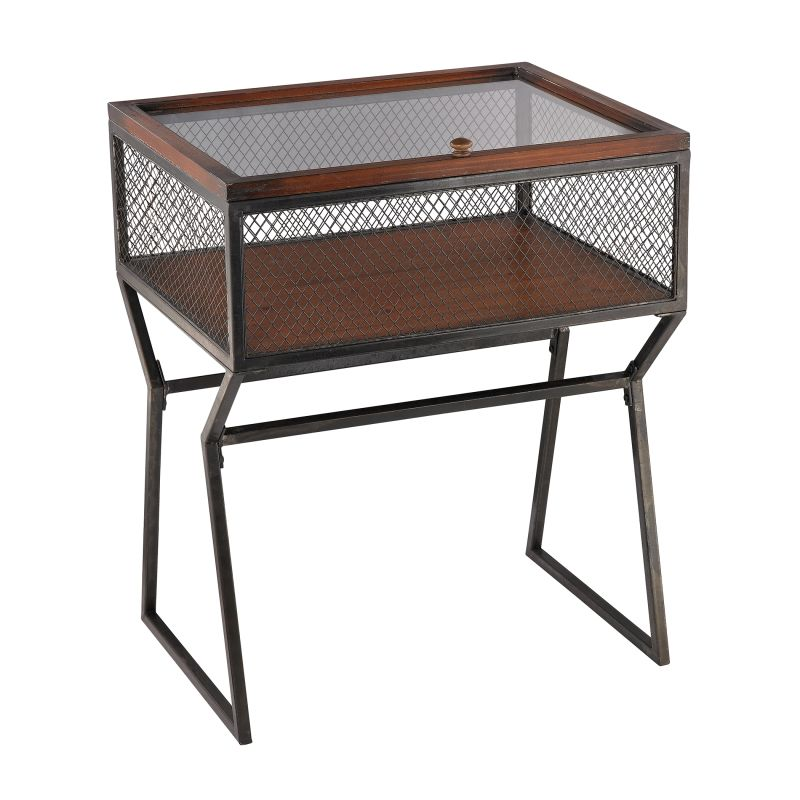 Sterling Industries 138-181 Curio Mesh Table Aged Iron Furniture