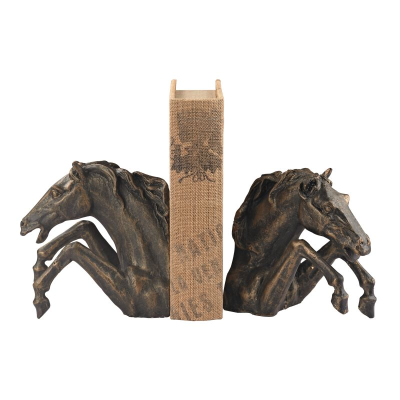 Sterling Industries 148-007/S2 Bascule Horse Bookend - Set of Two