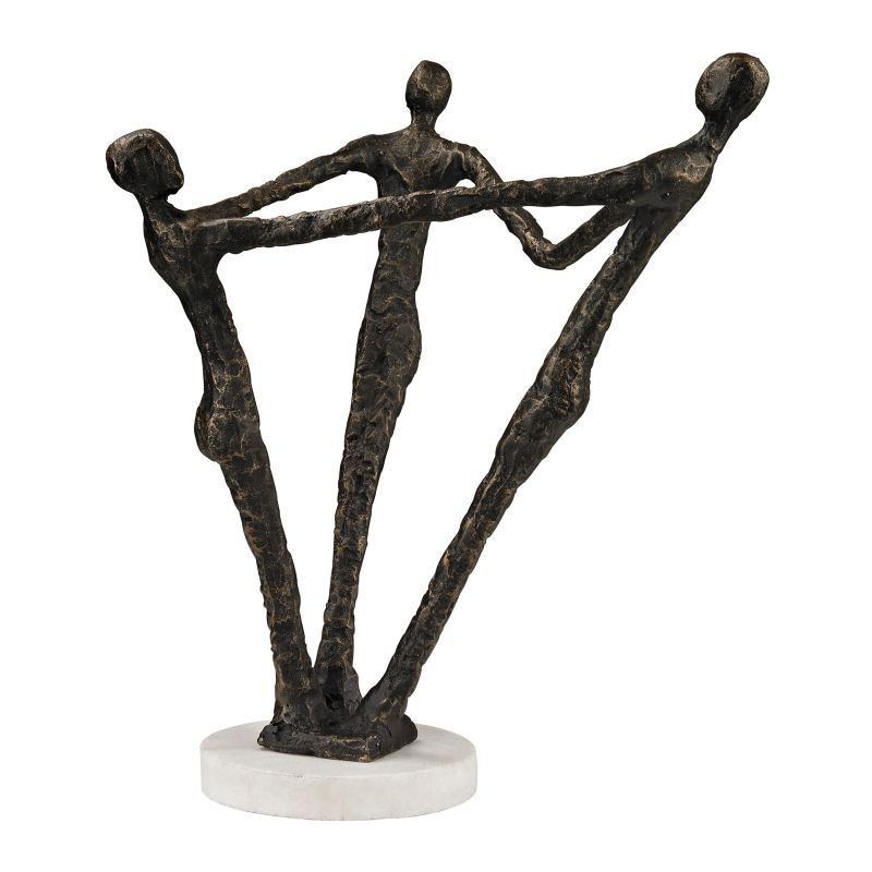 Sterling Industries 148-015 Ensemble Sculpture Bronze Home Decor