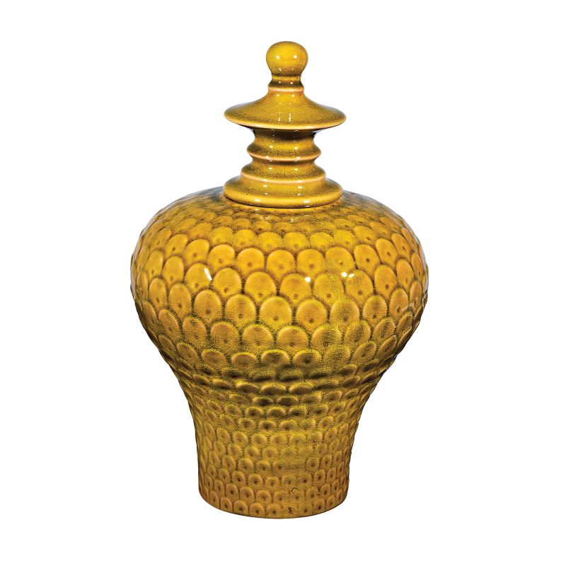 Sterling Industries 152-015 Large Lidded Ceramic Vase in Chartreuse Sale $94.00 ITEM: bci2619953 ID#:152-015 UPC: 843558126538 :