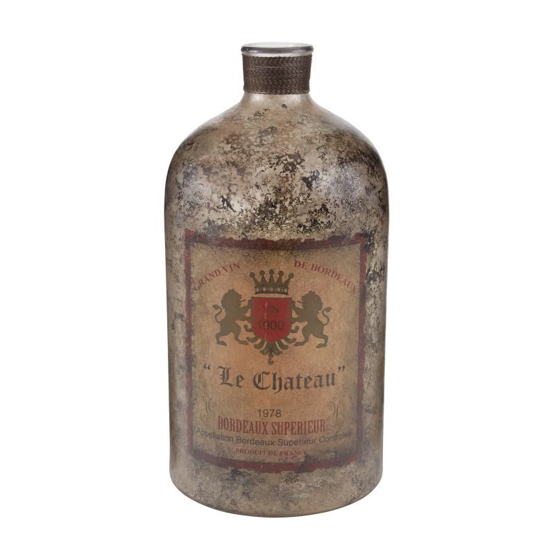 "Sterling Industries 169-002 18"" Aged Mercury Glass Bottle Aged Mercury"