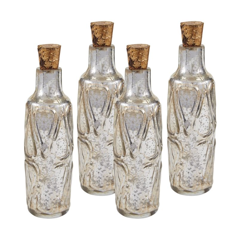 "Sterling Industries 169-008/S4 10"" Mouth Blown Mercury Glass Bottle -"