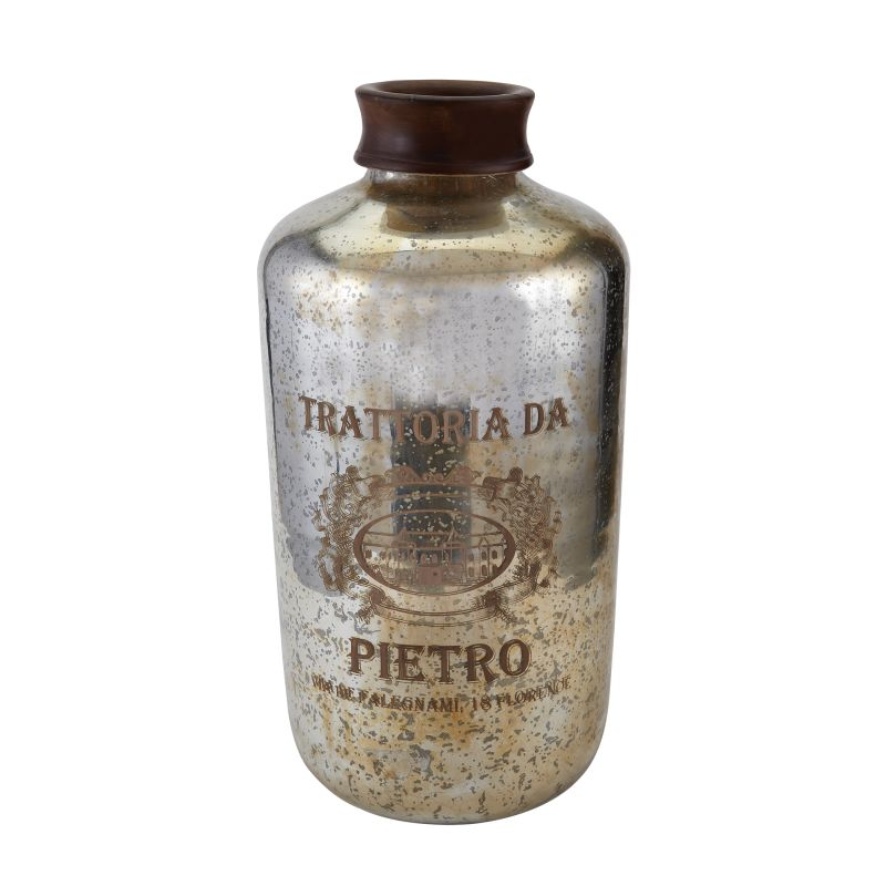 Sterling Industries 169-009 Oversized Antique Mercury Glass Bottle