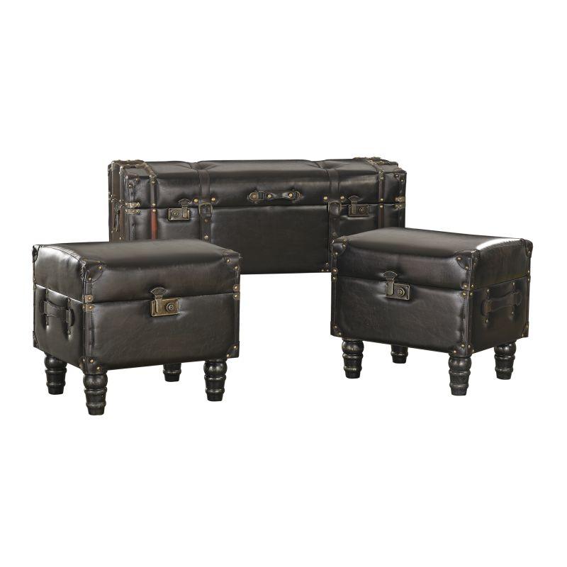 Sterling Industries 170-003/S3 Travelers Storage Trunks - Set of Three