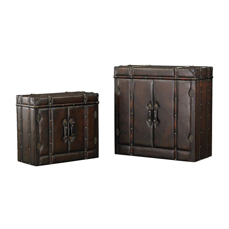 Sterling Industries 170-005/S2 Travelers Cabinet - Set of Two Dark Tan