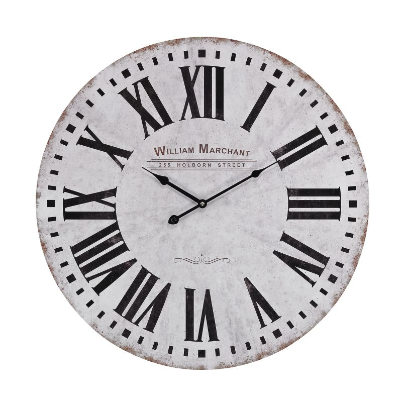 Sterling Industries 171-005 Aged White Analog Wall Clock White Home