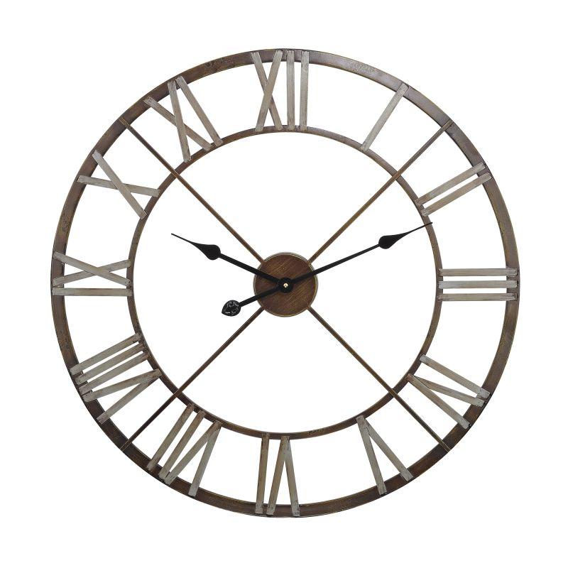 Sterling Industries 171-012 Open Center Iron Wall Clock Bronze Home